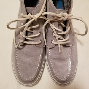 Sperry Top-Sider Gray Glitter Hi-Top Sneakers 9.5